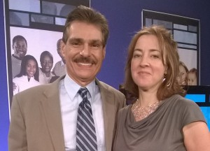 Susie Lloyd, Ray Guarendi after speaking on Living Right with Dr. Ray