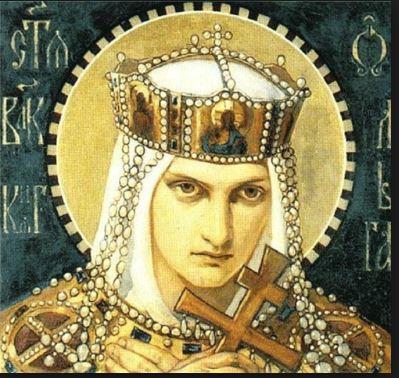 Saint Olha of Kiev with cross