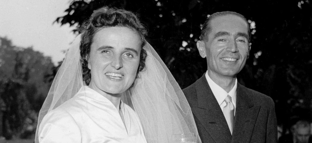 St. Gianna Molla and her husband Pietro Molla, on their wedding day.